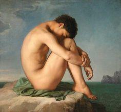 tumblr_kxdleeiBj71qag9hro1_500.jpg (JPEG Image, 500x464 pixels) #pose #flandrin #painting #art #fine