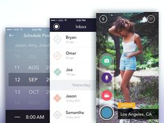 App Screens by Simeon K. #camera #inbox #iphone #ios #list #widget