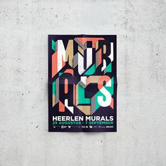 Heerlen Murals Festival on Behance #streetart #design #graphic #identity #murals #typography