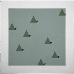 Geometry Daily #geometry #geometric #simple #triangle #minimal #poster #art #trees