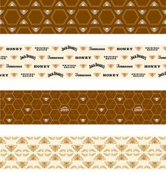 Jack Daniel's Tennessee Honey : Nathan Hinz #packaging #pattern #liquor #bees #honeycomb
