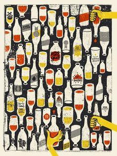 FFFFOUND!   doe-eyed   illustration #beer #illustration #doe #eyed