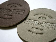 Tour de Beer Mats #blind #beer #stamp #embossing #mat #coaster