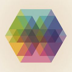 Fig. 040 Hexagon Shapes Art Print #geometry #hexagons #places #print #of #shapes #panarese #geometric #imaginary #poster #triangles #christina #maps