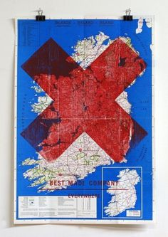 design work life » Axe Art #woodcut #print #map