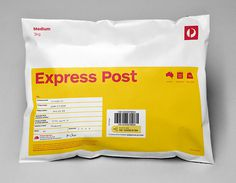 Australia Post Domestic Parcels designed by Interbrand #australia #parcel #package