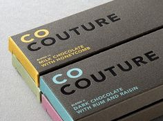 Co Couture Chocolate Packaging #packaging #design