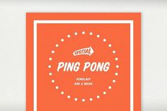 PING PONG on the Behance Network #print #design #graphic #pong #pauwels #valentin #ping
