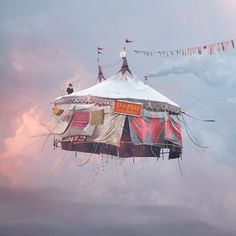 Flying Houses by Laurent Chehere #flying #circus #house