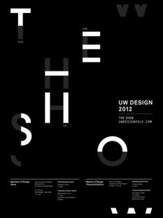 THE SHOW | UW DESIGN 2012 | PROFESSIONAL NIGHT #type #poster #show