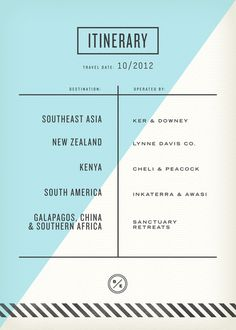 Passport inside 3 #itinerary #print #design #travel #type
