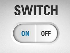 Dribbble - On/Off Switch by Rick Su #switch