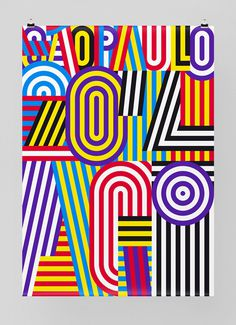 AGI 2014 #agi #pfã¤ffli #feixen #stripes #colors #poster #sao #felix #paulo