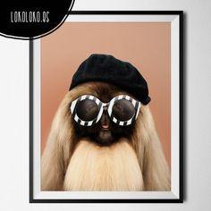 #dog #animals #funny #minimal #poster Poster realizado para lokoloko.es