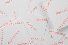 Parcella, branding by Ministry.