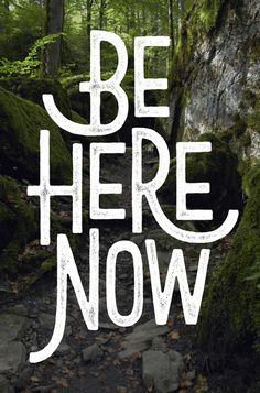 Be Here Now / typography by Damian King #hand lettering #typography #inspiration