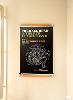 Affiche Michael Head - designed by Pascal Blua, printed by Dezzig #screenprint #poster #printmaking