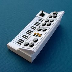 Analogue Miniature 2 #miniatures #synth #craft #art #paper