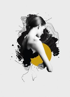 Voyager on the Behance Network #girl #illustration #collage