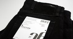 Friction #clothing #letterpress #hang #hangtags #tag #hangtag #jeans