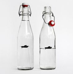 water bottle by designers anonymous #packaging #label #bottle #boat