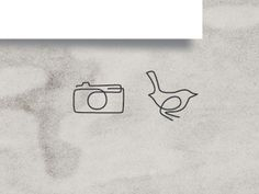 FFFFOUND! | Dribbble - Media Icons by Brian Everett #line #continuous #camera #bird #simple #minimal #clever
