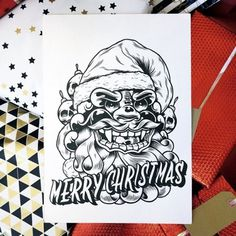 Illustration by Mark Goss #illustration #christmas #xmas #santa