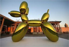jeff-koons-balloon-dog-yellow.jpg (JPEG Image, 650x450 pixels) #metal #sculpture #koons #dog