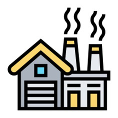 See more icon inspiration related to architecture and city, manufacturer, establishment, company, property, industrial, industry, factory, buildings and building on Flaticon.