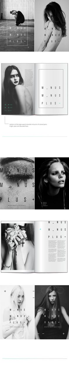 Minus Minus Plus on Behance #layout