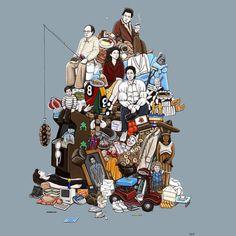 10 Artes Inspiradas em Seinfeld #illustration #seinfeld