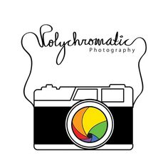 Polychromatic Photography on the Behance Network #vector #camera #polychromatic #photography #logo #typography
