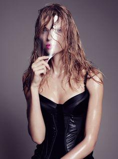 Julia Stegner by Paola Kudacki for Harpers Bazaar UK