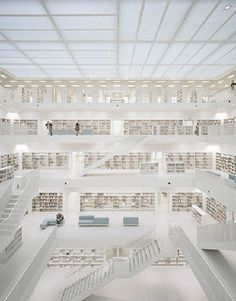 CJWHO ™ (eun young yi | new stuttgart library |...) #gonzlez #white #stuttgart #brigida #young #design #books #interiors #photography #architecture #fav #library #stairs #yi #eun