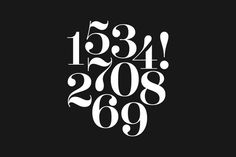 Aker Brygge Display — Numerals! Design by Sans Colour. #tipografia