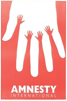Poster for the Israeli branch of Amnesty International designed by Yossi Lemel in 1995. #poster