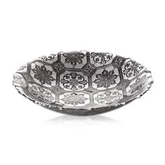 Bowl Safi Glass Grey Silver D34cm