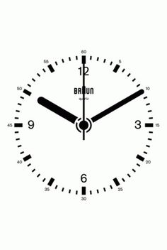 Dieter Rams Minimalist Braun Clock