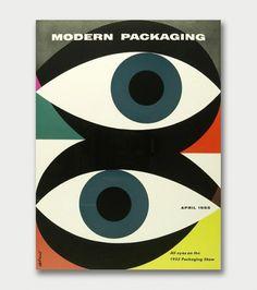 Walter Allner – Modern Packaging, 1950s/60s / Aqua-Velvet #cover #illustration #book