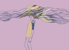 huebucket.com #girl #land #wave #hair #tattoo