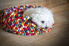 Freckle Felt Dog Bed #tech #flow #gadget #gift #ideas #cool