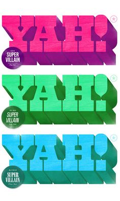 Super Villain, by André Beato #inspiration #creative #design #graphic #colorful #yah #typography