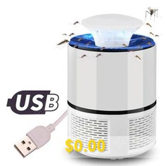 USB #Photocatalyst #Mosquito #Lamp #Home #Fly #Mosquito #Repellent #LED #Mosquito #Killer #- #WHITE #TRUMPET