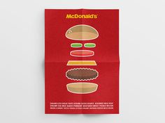 McDonald's Icon Exploration on Behance #mcd #burger #mcdonalds #icon #poster