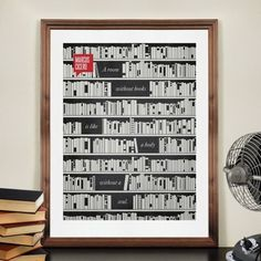 CJWHO ™ (A room without books is like a body without a...) #design #books #illustration #art #typography