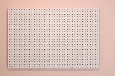 Tessie Fay: October 2013 #grid #white #pink #dots #background #pegboard #blush