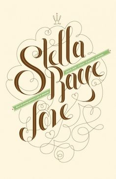 Inspirational Showcase of Amazing Typography Designs #swirly #earthy #typography