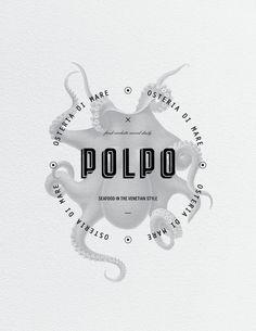 Polpo Restaurant on Behance #mark #logo #brand #restaurant