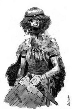 SLAM BLOGSMA #princess #san #illustration #mononoke #character