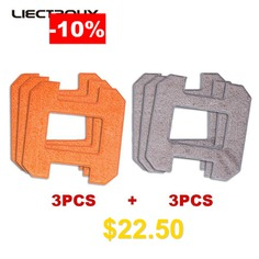 X6 #LIECTROUX #Fiber #Mopping #Cloths #for #Window #Cleaning #Robot